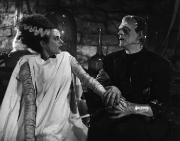 Love is in the air in The Bride of Frankenstein.