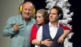 Jimmy Carr with Bill Bailey and Carrie Fisher on QI.