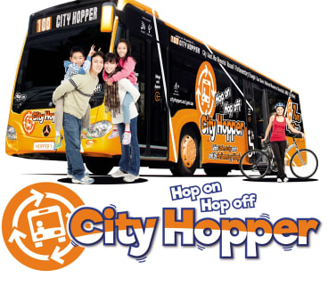 "Publicity material for the Liberals' proposed ""city hopper"" bus service."