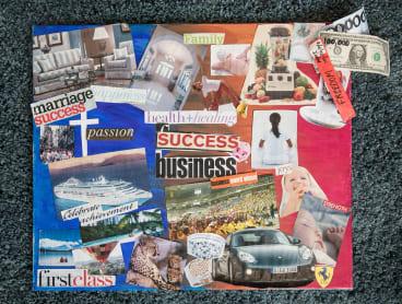 Brigitte Perik's vison board included a Porsche, a cruise and success in business.