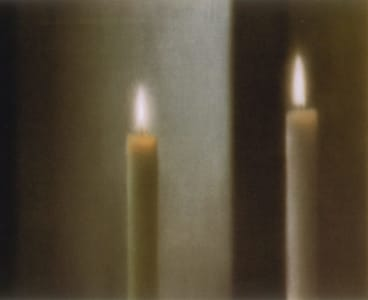 Two candles, 1982, oil on canvas.