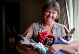Julie Malherbe with a few of the orphaned joeys and injured animals she looks after.