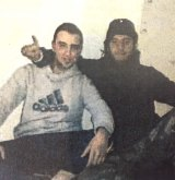 Mehmet Biber (right) and Nassim Elbahsa in a picture taken in Syria and tendered during the trial of Hamdi Alqudsi.