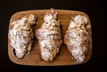 Locally made croissants from Queenscliff's old-school baker Nathan Chinn.
