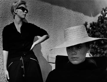 Bibi Andersson (left) and Liv Ullman explore questions of identity in <i>Persona</i>.
