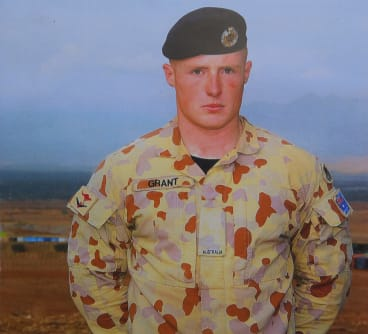Australian soldier Jason Grant, circa 2006, when he was serving in Afghanistan.