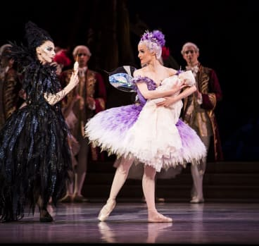 Lynette Wills and Amber Scott in <i>The Sleeping Beauty</i>.