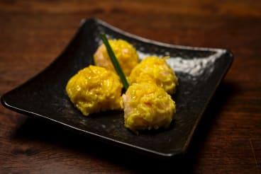 The Ebi Shumai at Kenzan Japanese Restaurant.