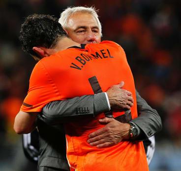 In the family: Marc Van Bommel and Bert Van Marwijk in 2010.