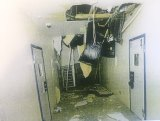 The aftermath of a riot on March 7 where teenagers caused $120,000 in damages.