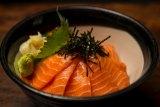 The Sake Don at Kenzan Japanese Restaurant.