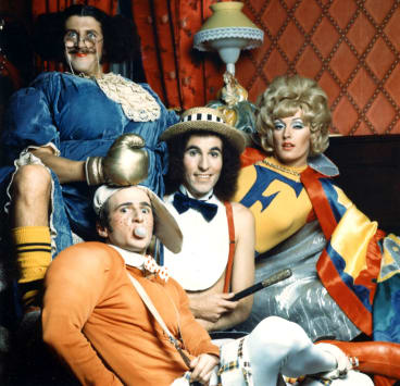 The Aunty Jack Show crew: (from left) Grahame Bond, Gary McDonald, Rory O'Donoghue and Sandy Macgregor.