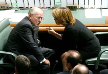 With John Howard in Parliament in 2004.