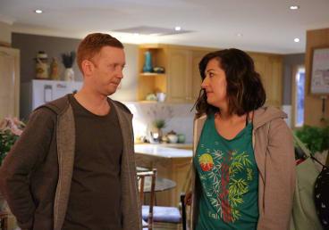 Luke McGregor and Celia Pacquola in Rosehaven: Back in Tassie.