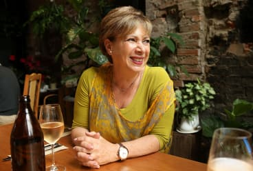 Kerry Kornhauser lunches at Streat in Collingwood.