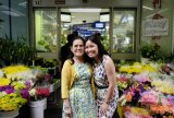 Diana Nguyen and her mother Hong Nguyen, who was a refugee from Vietnam, at Springvale market.