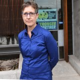 ACTU secretary Sally McManus at the offices of the Victorian brach of the AWU.
