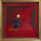 David Lynch's Small Boy In His Room, 2009, mixed media on canvas, courtesy the artist and Marek Lieberberg.