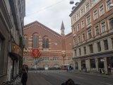 The main train station and streets of Vesterbro, Copenhagen.
