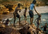 Children cooling off at Dhayiri Homeland, Elcho Island, NT, 2010.