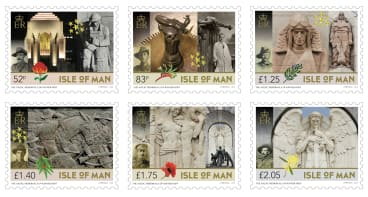 The new collection of stamps issued by the Isle of Man.