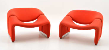 Pierre Paulin pair of the 'groovy chair' artifort, $1500-2500.