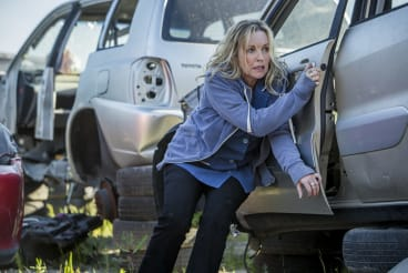 Rebecca Gibney plays Lola in <i>Wanted</i>.