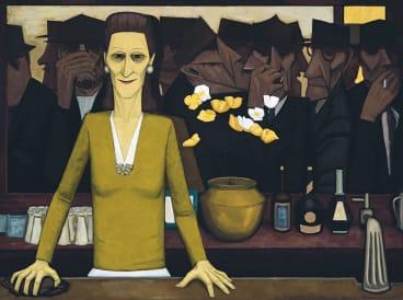 The Bar 1954. Estimate $1,500,000-$2,000,000 .Sold for $3,120,000 April 2006.
