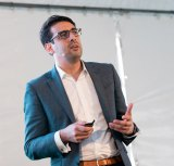 Michael Macolino, co-founder of Accodex, speaking at the Salesforce World Tour in Sydney.