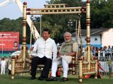 Chinese President Xi Jinping and Indian Prime Minister Narendra Modi sit on a traditional swing in India in September.