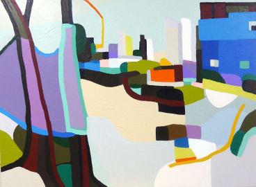 Yvonne Boag, <i>Waiting Yangcheonro</i>, 2015, in <i>Here and There</i> at Nancy Sever Gallery.