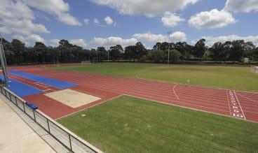 The $7m refurbishment of the Woden athletics track.