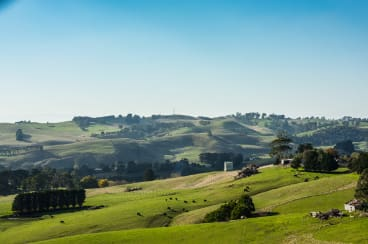 Spectacular views along the Loch-Wonthaggi road.