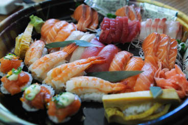 A sushi plate from Hinoki Japanese Pantry in Collingwood.