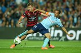 Derby delight: Sydney FC skipper Alex Brosque will be a key player in the clash with the Wanderers.