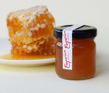 The beehives produce 80kg of honey annually.