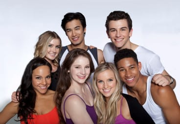 Positive impact: the cast of season three of Dance Academy.