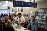 Start spreading the brews: Leon Unglik (at right) in Little Collins.