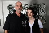 In the blood: Andy McPhee and son Kodi Smit-McPhee are both enjoying successful acting careers.