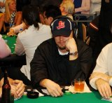 Leonardo DiCaprio at the 1st Annual Jet Celebrity Poker Tournament in Las Vegas.