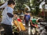 Kinder kids playing at East Burwood Preschool.