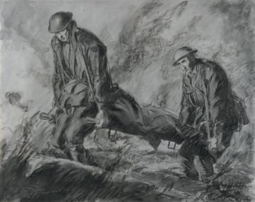"""Stretcher-Bearers"", by Will Dyson."