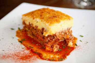 Sweet potato moussaka at Salona.