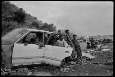 Baruni garbage dump, Port Moresby, 2009, from Stephen Dupont's exhibition, The Outside Land, at the Australian Centre for Photography in Sydney.