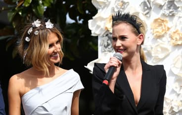 Kate Waterhouse and Anna Bamford get in the spirit of Spring Carnival.