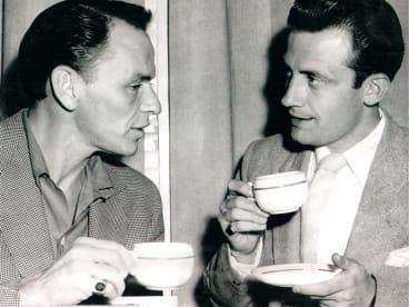 Frank Sinatra with Bob Horsfall in 1955.