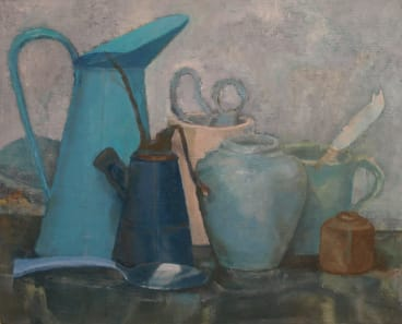 Still Life in Blue, by Maryanne Wick, at Form Studio and Gallery.