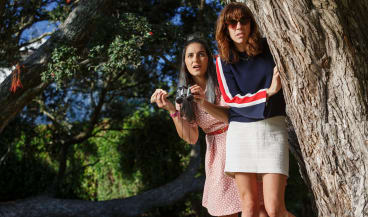 Madeline Sami and Jackie Van Beek star in Kiwi comedy The Breaker Uppers, which they also wrote and directed.