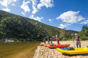 On your marks, get set, paddle ... In the legendary Snowy River.