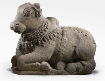 The sacred bull Nandi, vehicle of Shiva 11-12th century, is one of the four pieces reported as stolen, part of the National Gallery of Australia's collection.